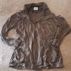Ashley outerwear, green jacket, size large